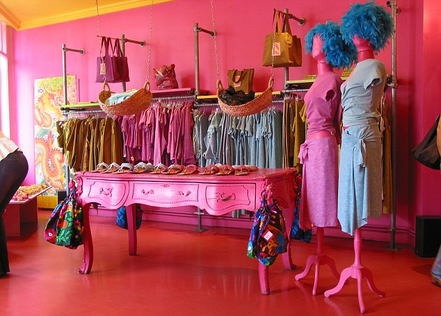 interior of colourful Antoine & Lili boutique Quai de Valmy 10th Arr. Paris France